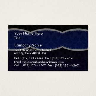 Regalo de boda floral azul de la aclaración tarjeta de negocios