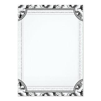 Regalo de boda floral blanco y negro creativo invitación 12,7 x 17,8 cm