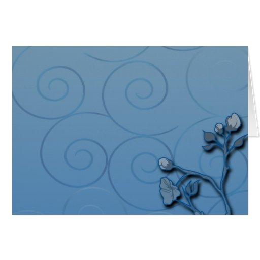 Regalo de boda floral de la planta de los azules m tarjeta