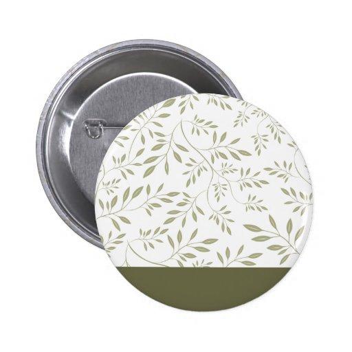 Regalo de boda floral expresivo de las hojas del v pin