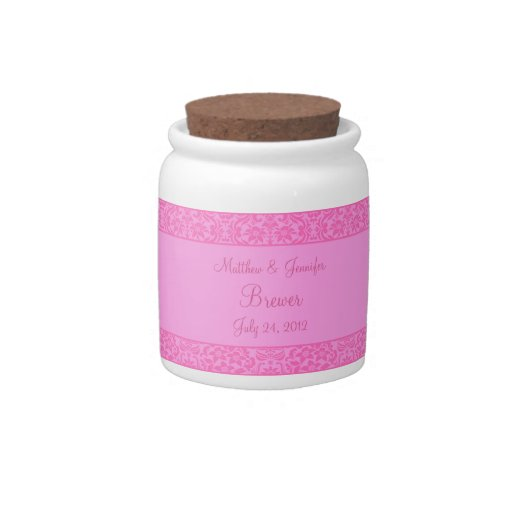 Regalo de boda floral rosado del tarro del boda de jarras para caramelos