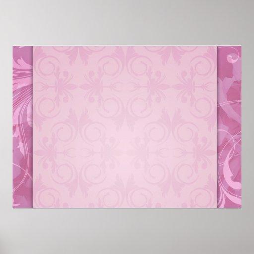Regalo de boda floral rosado hermoso póster