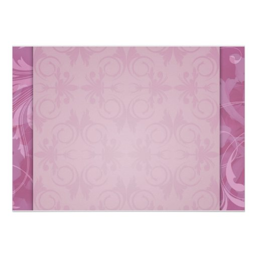Regalo de boda floral rosado hermoso posters