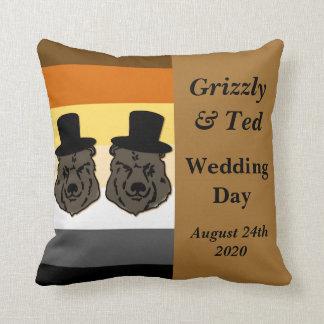 Regalo de boda gay de la almohada del orgullo del