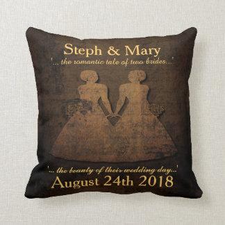 Regalo de boda lesbiano de la almohada nupcial