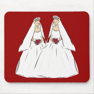 Regalo de boda lesbiano Mousepad