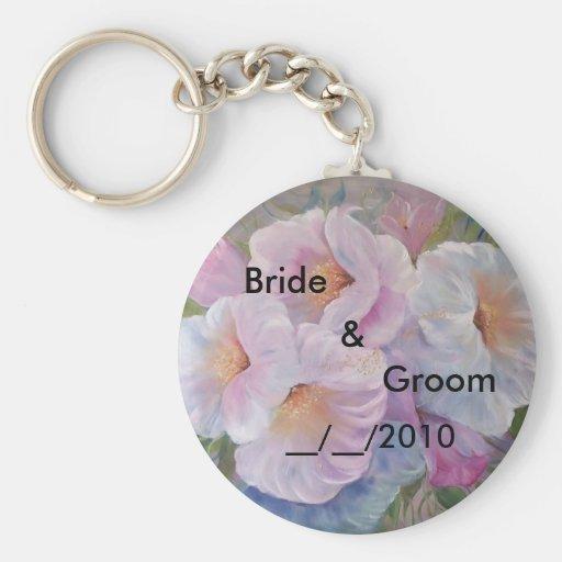 regalo de boda llavero redondo tipo pin
