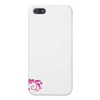 Regalo de boda rosado delicioso del flor iPhone 5 cárcasas