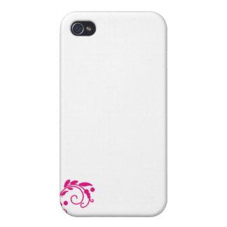 Regalo de boda rosado delicioso del flor iPhone 4 protector