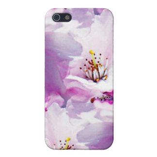 Regalo de boda rosado magnífico del flor iPhone 5 protectores