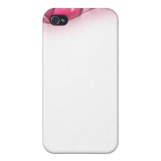 Regalo de boda rosado precioso del flor iPhone 4 carcasas