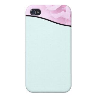Regalo de boda rosado y blanco elegante del flor iPhone 4/4S funda