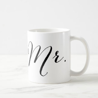 Regalo de boda simple de Sr. Script Stylish Modern Taza Clásica