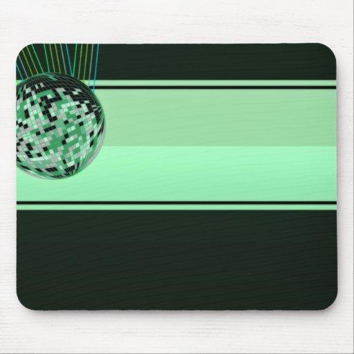 Regalo de boda verde moderno tapetes de raton