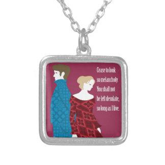 """Regalo de Charlotte Bronte """"Jane Eyre"""" con cita Colgante Cuadrado"""