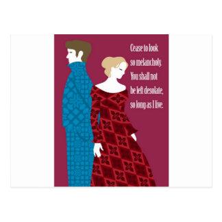 "Regalo de Charlotte Bronte ""Jane Eyre"" con cita Postal"
