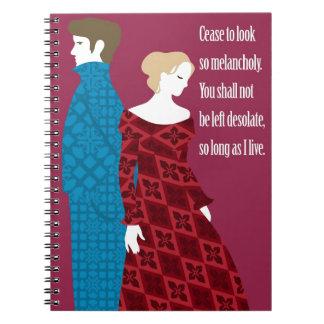 """Regalo de Charlotte Bronte """"Jane Eyre"""" con cita Spiral Notebooks"""