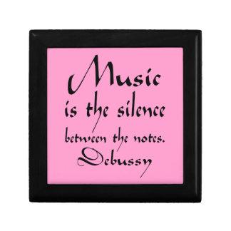 Regalo de Claude Debussy de la cita de la música Cajas De Regalo