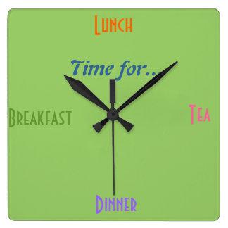 Regalo de Clock~A de la cocina para el restaurante Reloj Cuadrado