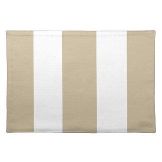 Regalo de color caqui y blanco de la arena 2013 de manteles