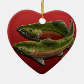 Regalo de color salmón personalizado ornamento pes adorno de reyes