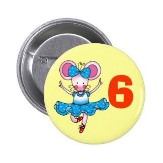 regalo de cumpleaños 6h para un chica, bailarina l pin redondo de 2 pulgadas