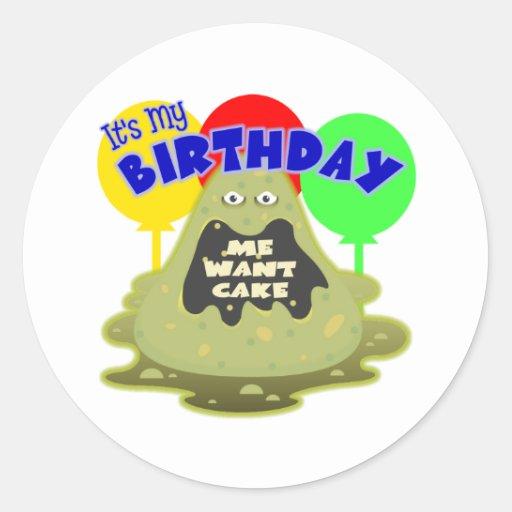 Regalo de cumpleaños del extranjero de espacio pegatina redonda