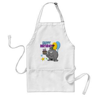 Regalo de cumpleaños del gorila delantal