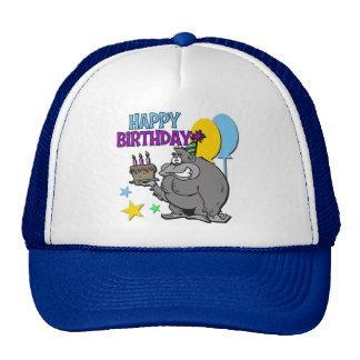 Regalo de cumpleaños del gorila gorros bordados