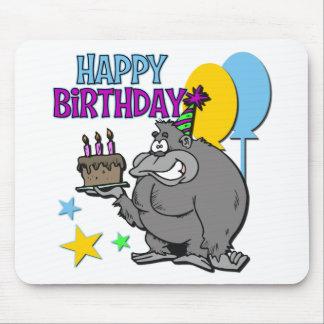 Regalo de cumpleaños del gorila alfombrillas de raton