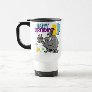 Regalo de cumpleaños del gorila taza de viaje