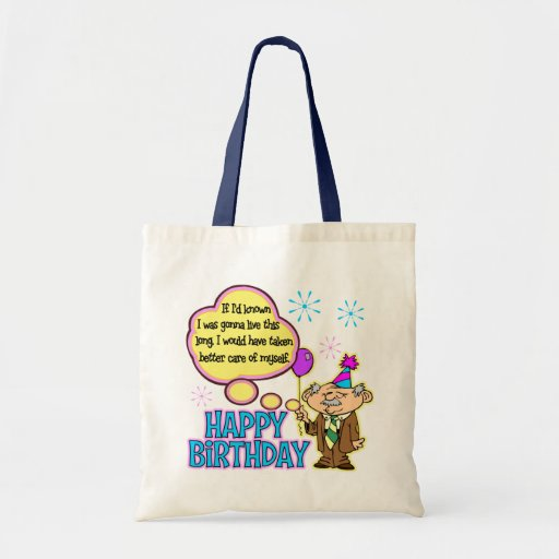 Regalo de cumpleaños divertido bolsa tela barata