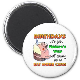 Regalo de cumpleaños divertido imán de frigorífico