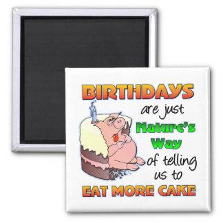 Regalo de cumpleaños divertido imanes de nevera