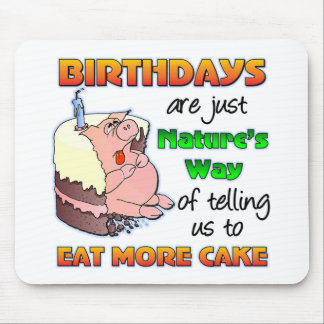 Regalo de cumpleaños divertido mousepad