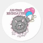 Regalo de cumpleaños divertido pegatina redonda