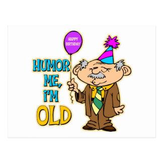 Regalo de cumpleaños divertido postal