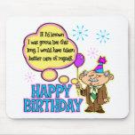 Regalo de cumpleaños divertido tapetes de ratones