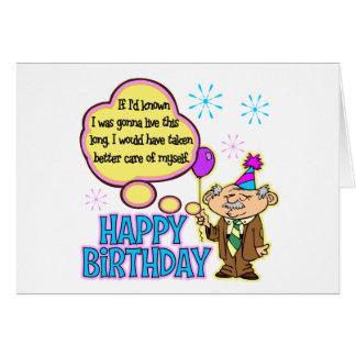 Regalo de cumpleaños divertido tarjeta