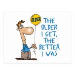 Regalo de cumpleaños divertido tarjeta postal