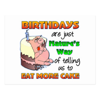 Regalo de cumpleaños divertido tarjetas postales