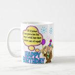 Regalo de cumpleaños divertido taza de café