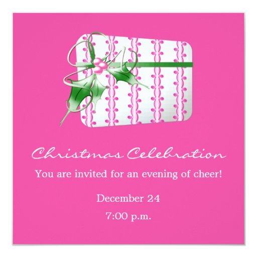 """Regalo de Deco del rosa de la celebración del Invitación 5.25"""" X 5.25"""""""
