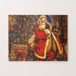 Regalo de día de fiesta feliz de Papá Noel del Puzzle Con Fotos