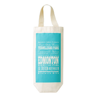Regalo de Edmonton única, Alberta Bolsa Para Botella De Vino Zazzle HEART