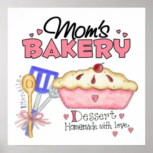 Regalo de encargo de la panadería de las mamáes poster