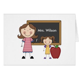 Regalo de encargo del profesor tarjeta de felicitación