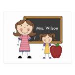 Regalo de encargo del profesor tarjeta postal