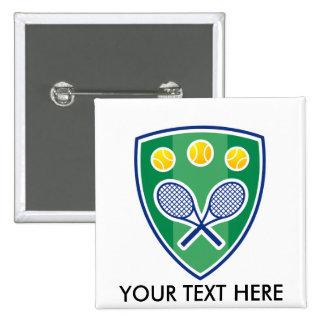 Regalo de encargo del tenis para el club o el torn pin cuadrado