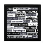Regalo de encargo/joyero del viajero europeo cajas de recuerdo